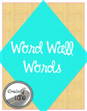 Teal and Black Word Wall Words