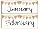 Teal and Burlap Calendar Pieces