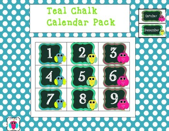 Teal and Chalk Calendar Pack