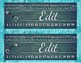 Teal and Chalkboard Key Name Tags