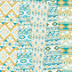 Teal and Gold aztec Digital Paper, Boho seamless patterns backgrounds
