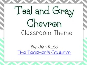 Teal and Gray Chevron Classroom