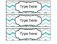 Teal and Gray Editable Labels