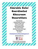 Teal and Gray Striped Classroom Decor