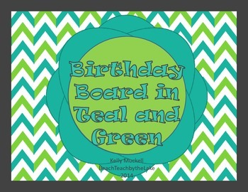 Teal and Green Birthday Board