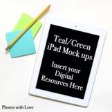 Teal and Green iPad Mock ups / Stock Photos