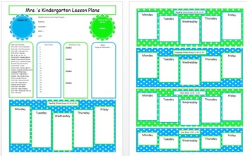Teal and Lime Lesson Plan Template
