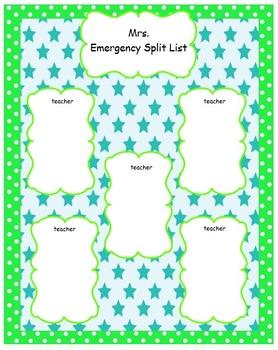 Teal and Lime Split List Template
