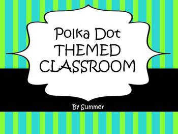 Teal and Lime themed Classroom Packet