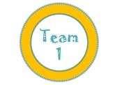 Teal and Orange Team Signs