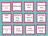 Teal and Pink Chevron Clasroom Decorating and Organizing Pack