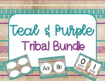 Teal and Purple Classroom Bundle