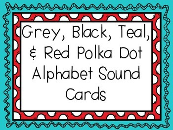Teal and Red Letter Sound Cards