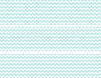 Teal and White Chevron Border