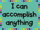 "Teal and White Polka Dot ""I Can"" Growth Mindset Posters"