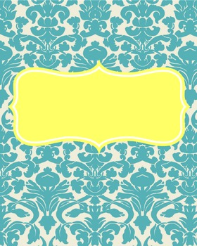 Teal and Yellow Binder Cover