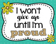 Teal and Yellow ~Growth Mindset~ POSTER SET