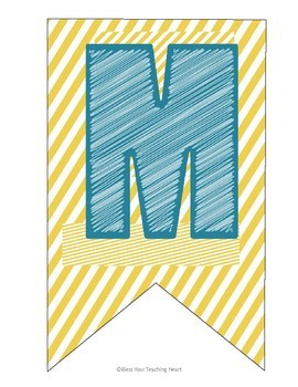 Teal and Yellow Name Banner