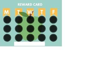 Teal and Yellow Reward Card- Medium Version