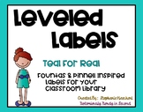 Teal for Real Classroom Library Leveled Labels  (Fountas &