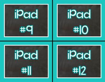Teal for Real iPad Labels for your Classroom iPads/iPad Containers