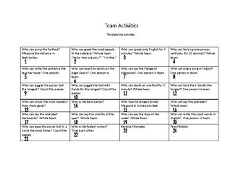 Team Activity - End of Semester Fun Activity or Assessment