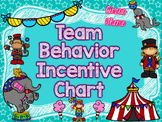 Behavior Incentive Chart for Teams-CIRCUS Theme; Classroom Management