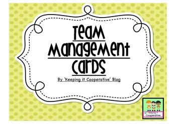 Team Behavior Management Cards