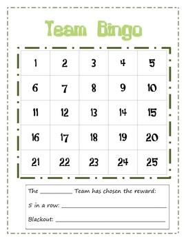 Team Bingo Reward