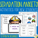 Separation Anxiety Activity Pack for New Students Team Bra