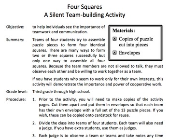 Team Building 101: Four Great Activities to Help Your Students Work Together
