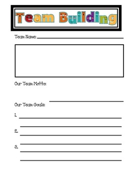 Team Building Activites, Team Jobs, and Team Logs Bundle