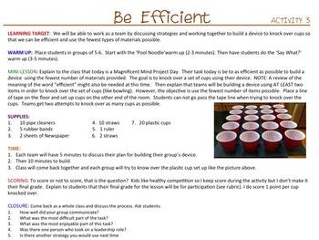 Team Building Activities - Magnificent Mind Project (UNIT 2)