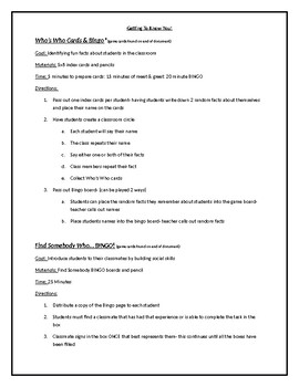 Team Building Activities for beginning or end of the year!
