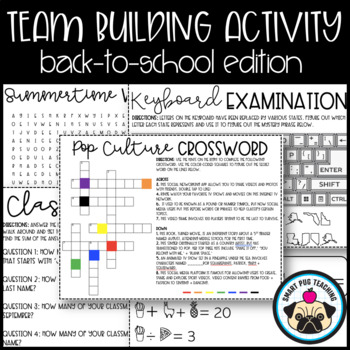 Team Building Activity - Back to School Edition