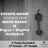 Team Building Activity, Team Building Escape Room, Back to School Math Activity