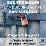 Team Building Activity Escape Room, Back to School {ANY SUBJECT} I