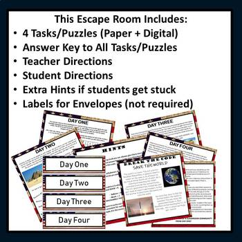 Team Building Activity Escape Room, Back to School {ANY SUBJECT} II