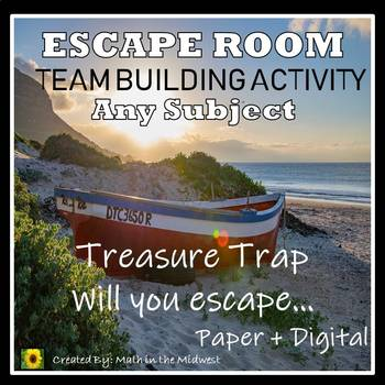 Team Building Activity Escape Room, Back to School {ANY SUBJECT} III