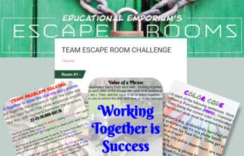 Team Building Escape Room 2.0 - Team Building Activity, Back to School Game