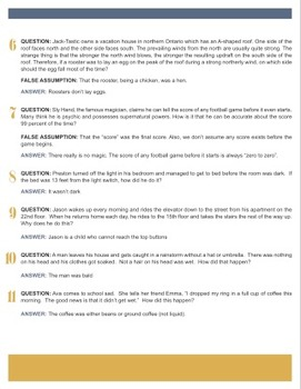 Team Building Riddles 2 {Editable}