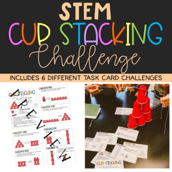 Team Building Stem Cup Challenge Activity By Life With