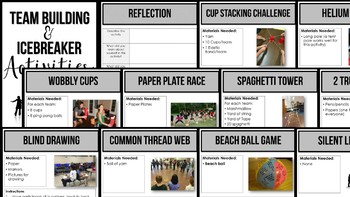 Team Building and Icebreaker Activities for the Classroom