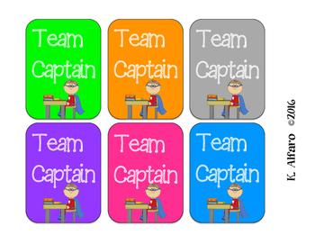 Team Captain Signs