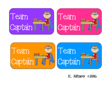 Team Captain Signs