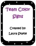 Team Color Signs
