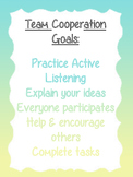 Team Cooperation Goals Poster