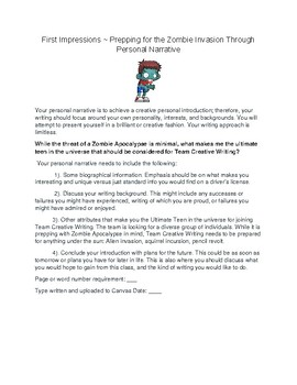 Team Creative Writing ~ An Introductory Assignment