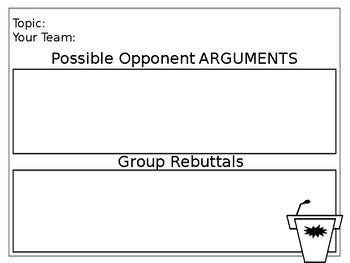 Team Debate Signs