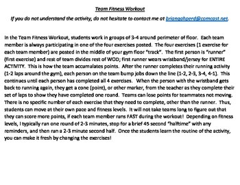 Team Fitness Workout